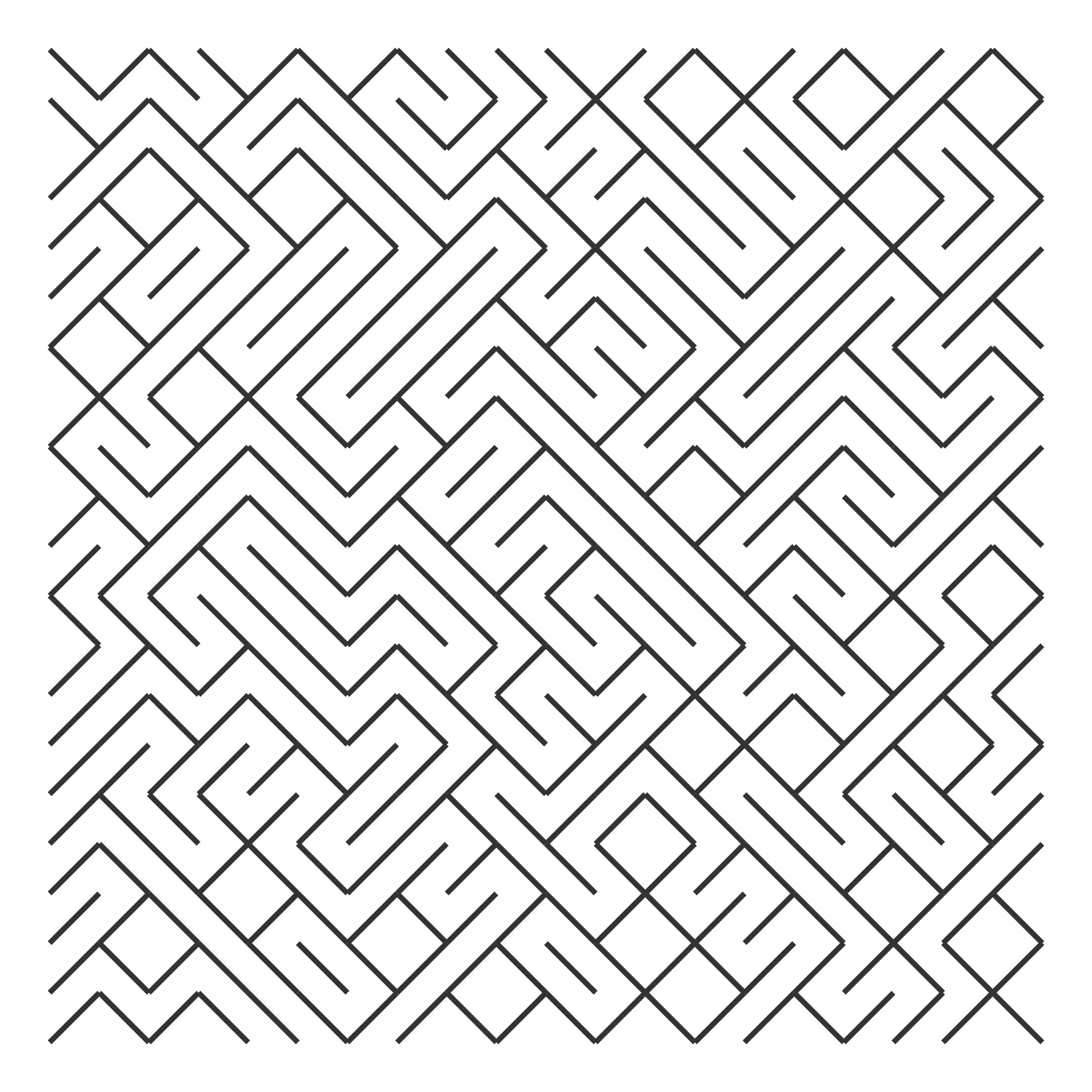 A maze with 50% flipping probability